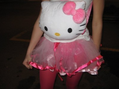 Hello Kitty backpack costume