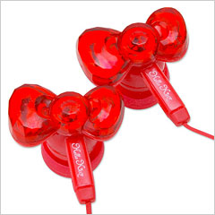 Hello Kitty earbuds bow