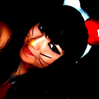 Hello Kitty face paint costume