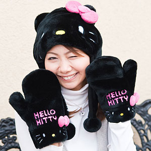Hello Kitty winter hat and mittens