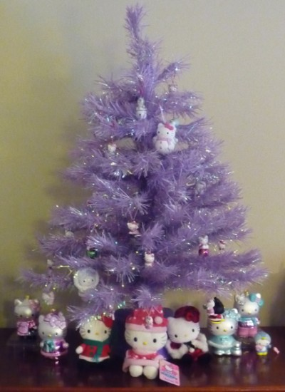 hello kitty purple xmas tree