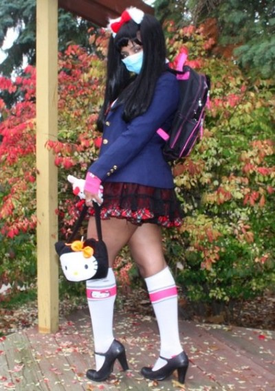 Hello Kitty schoolgirl