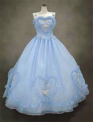 Hello Kitty wedding dress blue heart