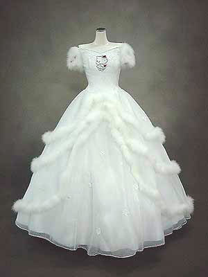 Hello Kitty wedding dress white