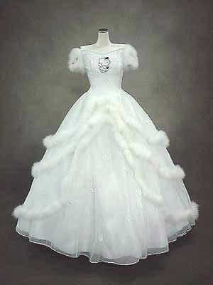 hello kitty wedding dress white