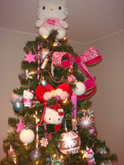Hello Kitty Xmas tree topper