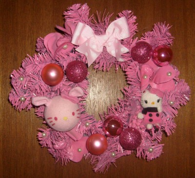 Hello Kitty Christmas wreath