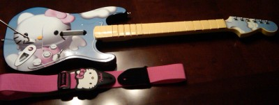 Hello Kitty Rockband guitar