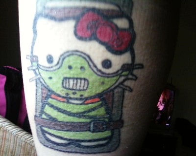 Hello Kitty Hannibal Lecter tattoo
