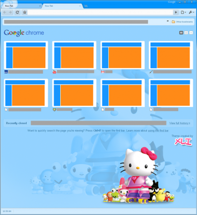 Hello Kitty Google chrome theme