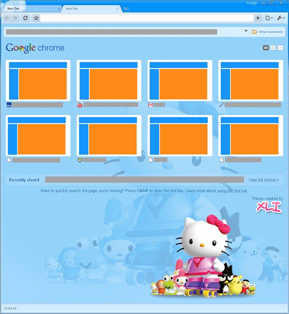 Hello Kitty Google Chrome Theme – Hello Kitty Hell