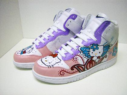 new style f3790 86e76 hello kitty Nike airforce shoes