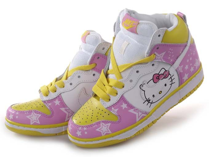 on sale ca1da e4df5 hello kitty Nike dunk high tops