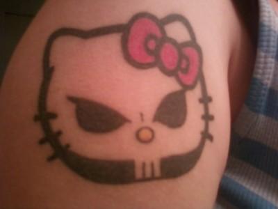hello kitty growth chart tattoo
