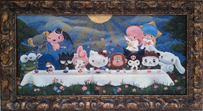 hello kitty last supper painting