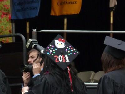 2011 hello Kitty graduation cap