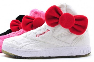 hello kitty plush Reebok shoes