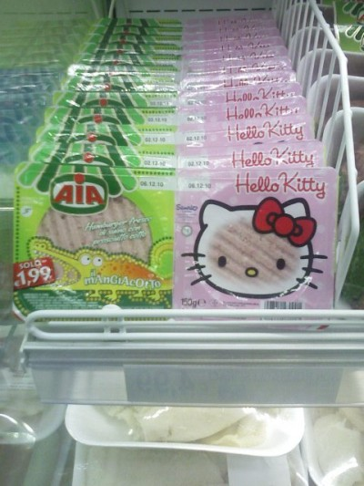 hello kitty frozen beef patty