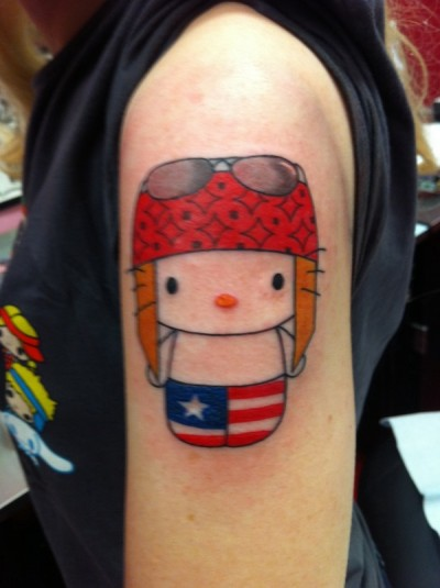 hello kitty axl rose tattoo