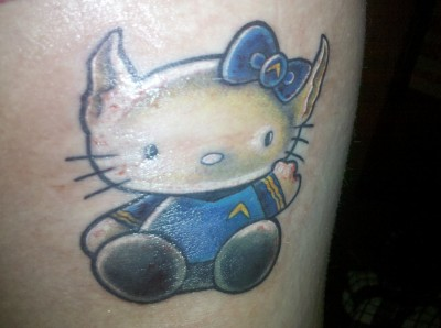 hello kitty spock tattoo