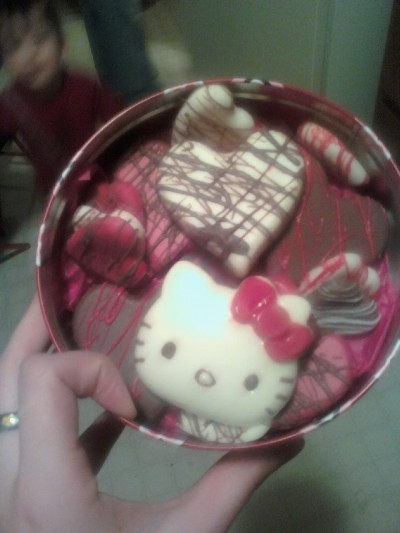 hello kitty vanetine's day chocolate