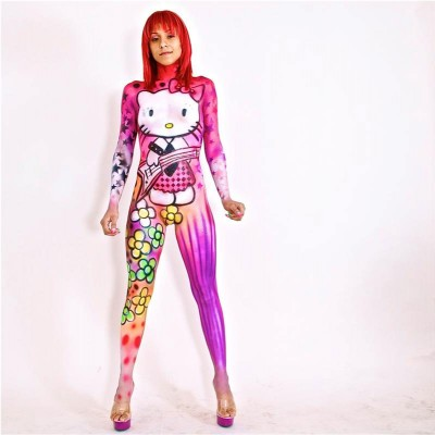 hello kitty body painted