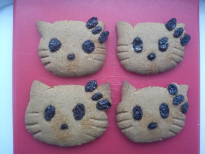 Hello Kitty gingerbread alien cookies