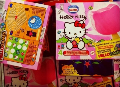 Hello Kitty Nestle popsicles