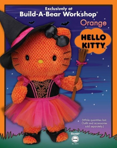 Build a bear Hello Kitty Halloween orange