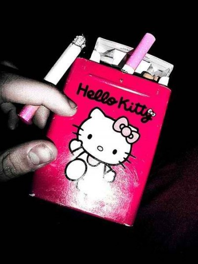 Hello Kitty pink cigarettes