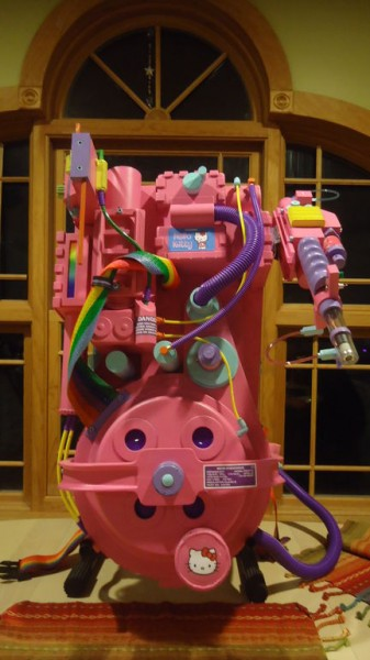 Hello Kitty Ghostbusters pink proton pack