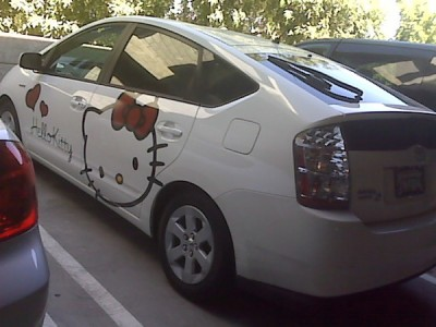 Hello Kitty Toyota Prius hybrid car