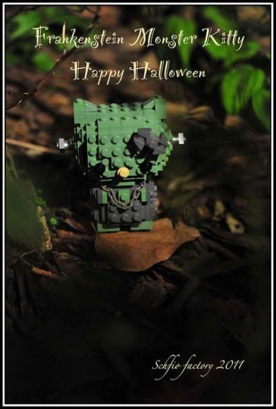Hello Kitty Lego Frankenstein Halloween figure