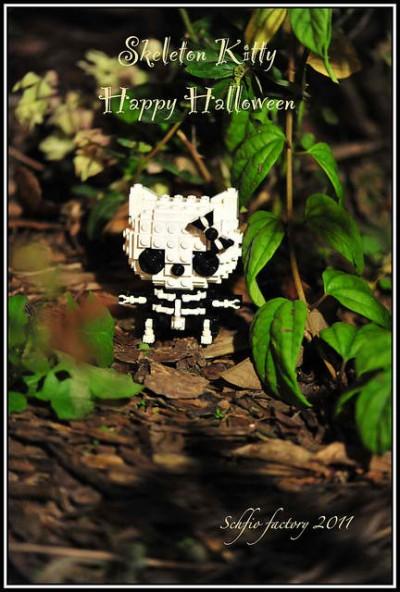 Hello Kitty Lego skeleton Halloween figure
