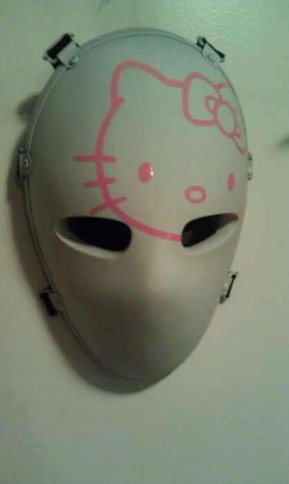 bullet proof mask with Hello Kitty