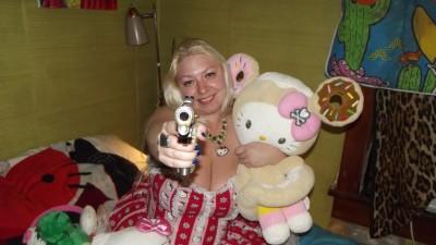 Hello Kitty fanatic with a gun