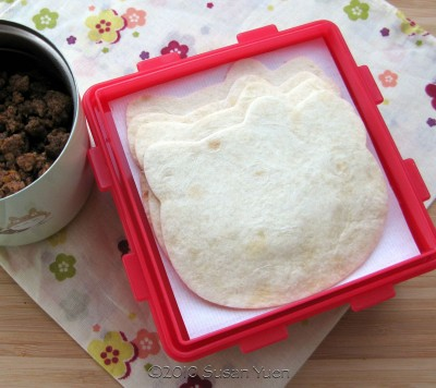 Hello Kitty tortillas for soft tacos