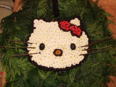 Hello Kitty holiday wreath
