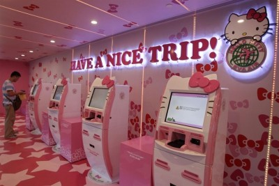 hello kitty airline ticket machines