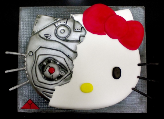 Hello Kitty as terminator cake