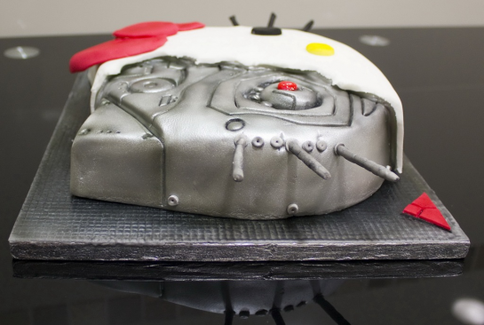 Hello Kitty x Terminator specialty cake