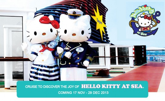 Hello Kitty cruise boat vacation