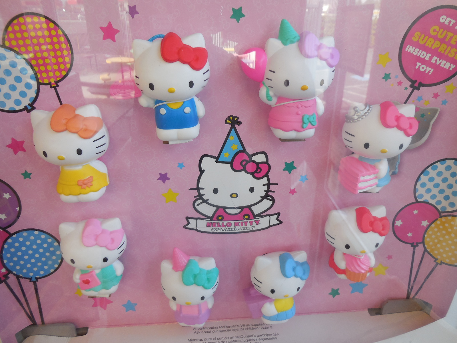 Hello Kitty 40th anniversary McDonald's Happy Meal toys