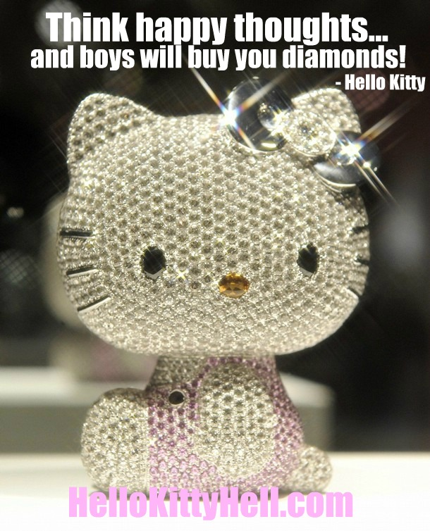 What hello kitty thinks of diamonds